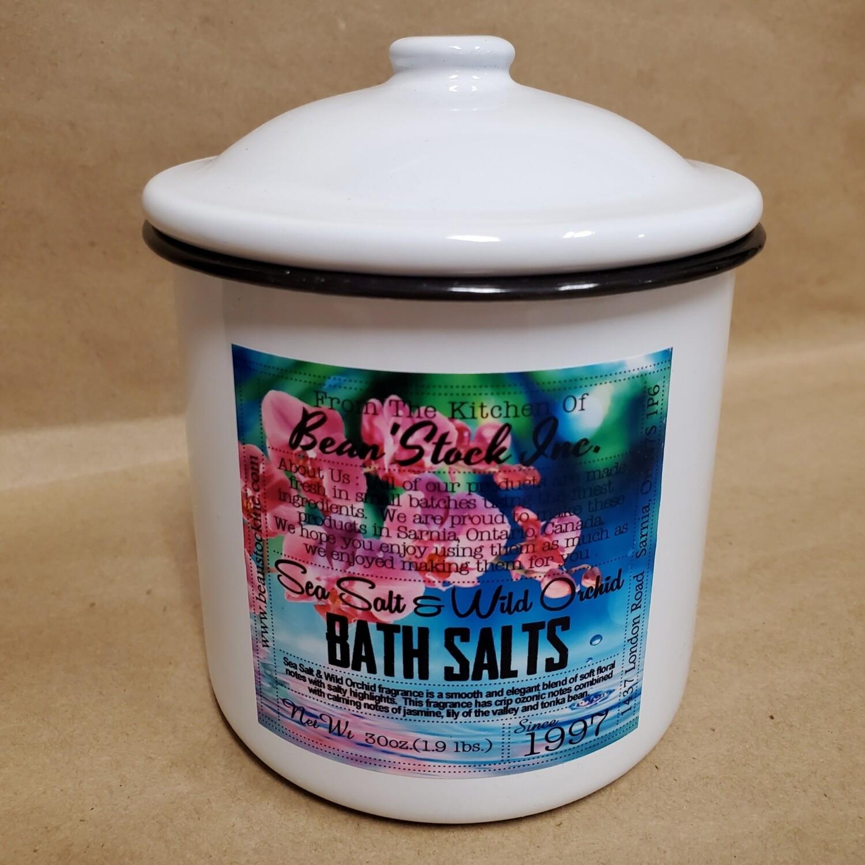 Bean'Stock Bath Salts | Sea Salt & Wild Orchid