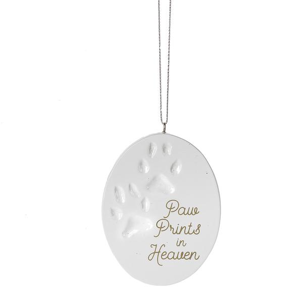 Paw Prints in Heaven Ornament