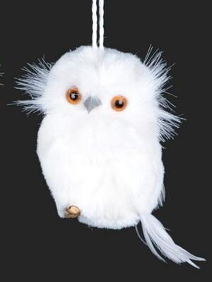 White Owl on Twig | Head Turned