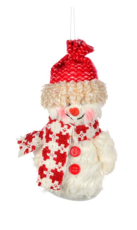 Chenille Snowman Ornament | Short Toque