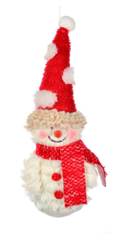 Chenille Snowman Ornament | Tall Toque