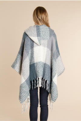 Simply Noelle - Plaid and Houndstooth Hooded Wrap | Multiple Colors