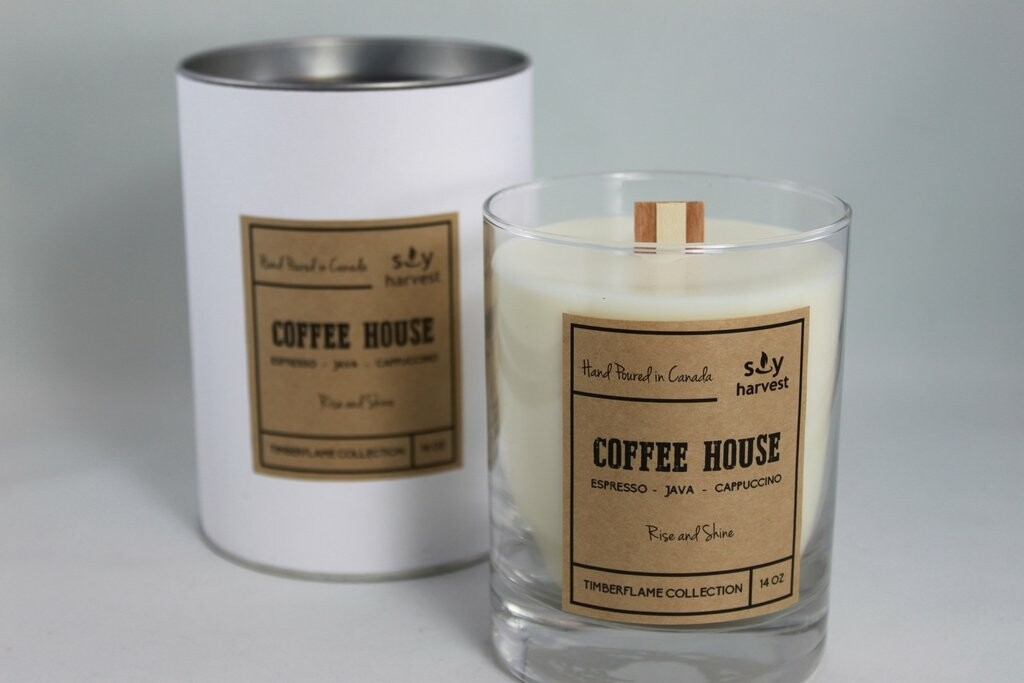 Soy Harvest Timberflame Candle   Coffee House