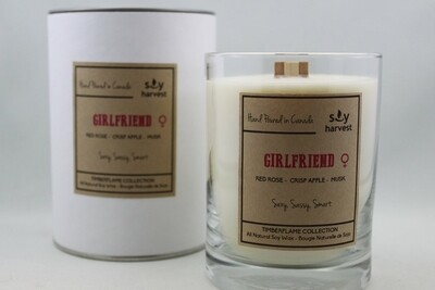 Soy Harvest Timberflame Candle | Girlfriend
