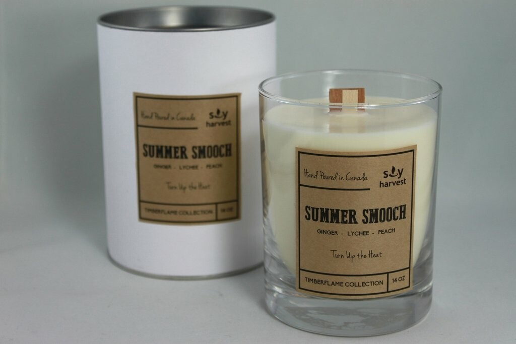 Soy Harvest Timberflame Candle   Summer Smooch