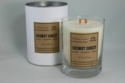Soy Harvest Timberflame Candle | Coconut Sunset