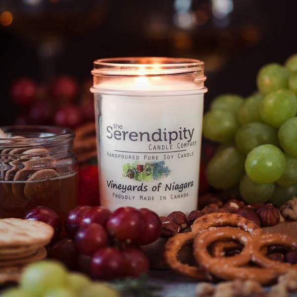 Serendipity 8 oz Soy Candle Jar | Vineyards of Niagara