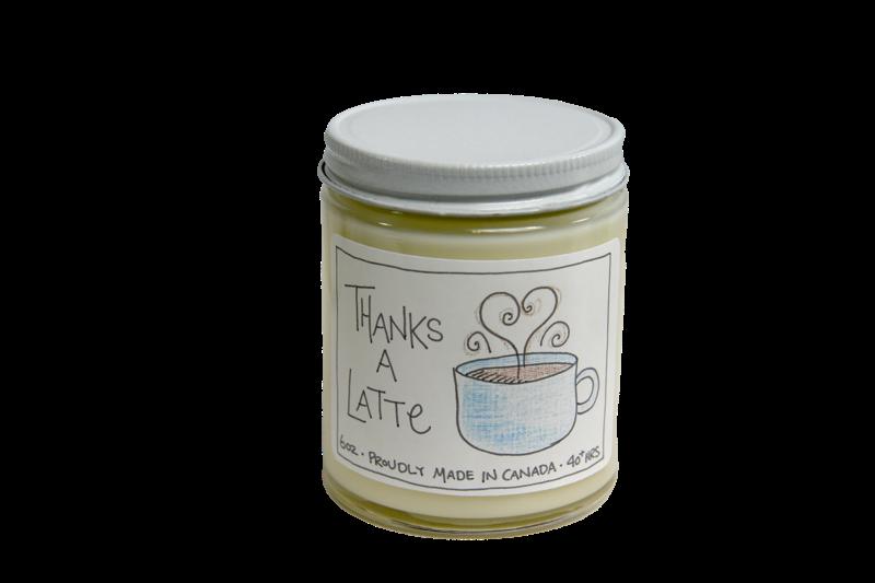 Serendipity 6 oz Soy Candle Jar   Thanks A Latte