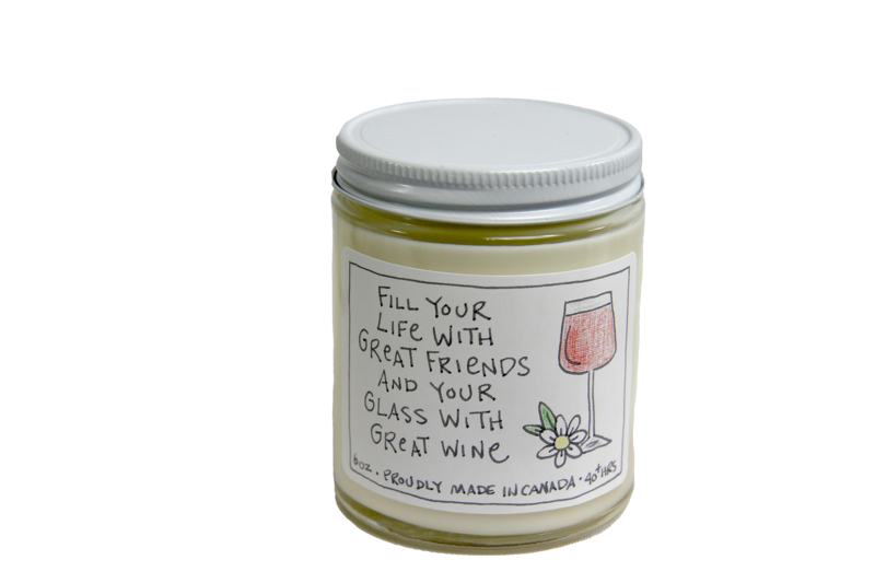 Serendipity 6 oz Soy Candle Jar   Great Friends