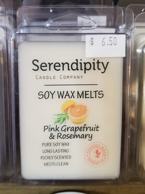 Serendipity Wax Melts | Pink Grapefruit & Rosemary