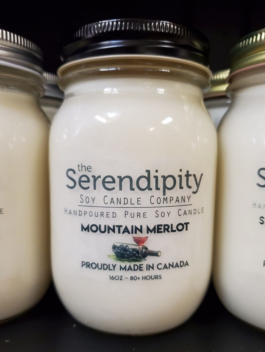 Serendipity 16 oz Soy Candle Jar | Mountain Merlot