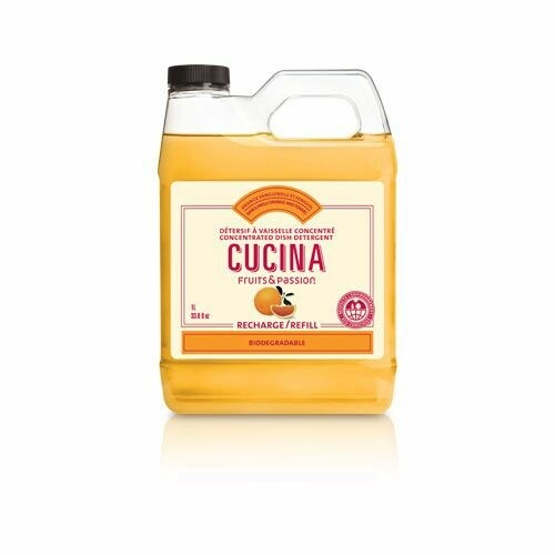 Fruits & Passion Cucina 1L Concentrated Dish Detergent Refill | Sanguinelli Orange and Fennel