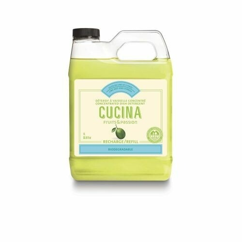 Fruits & Passion Cucina 1L Concentrated Dish Detergent Refill | Lime Zest & Cypress
