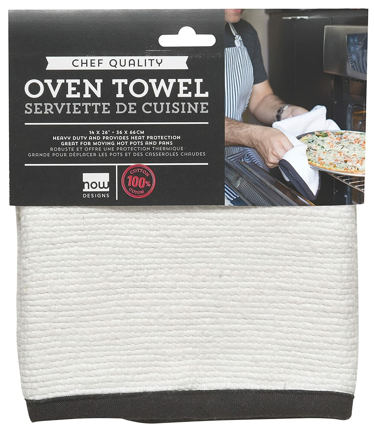 Now Designs Oven Towel   White
