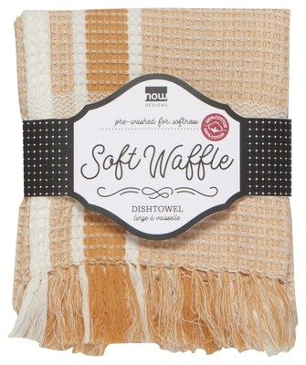 Now Designs Soft Waffle Dishtowel   Ochre