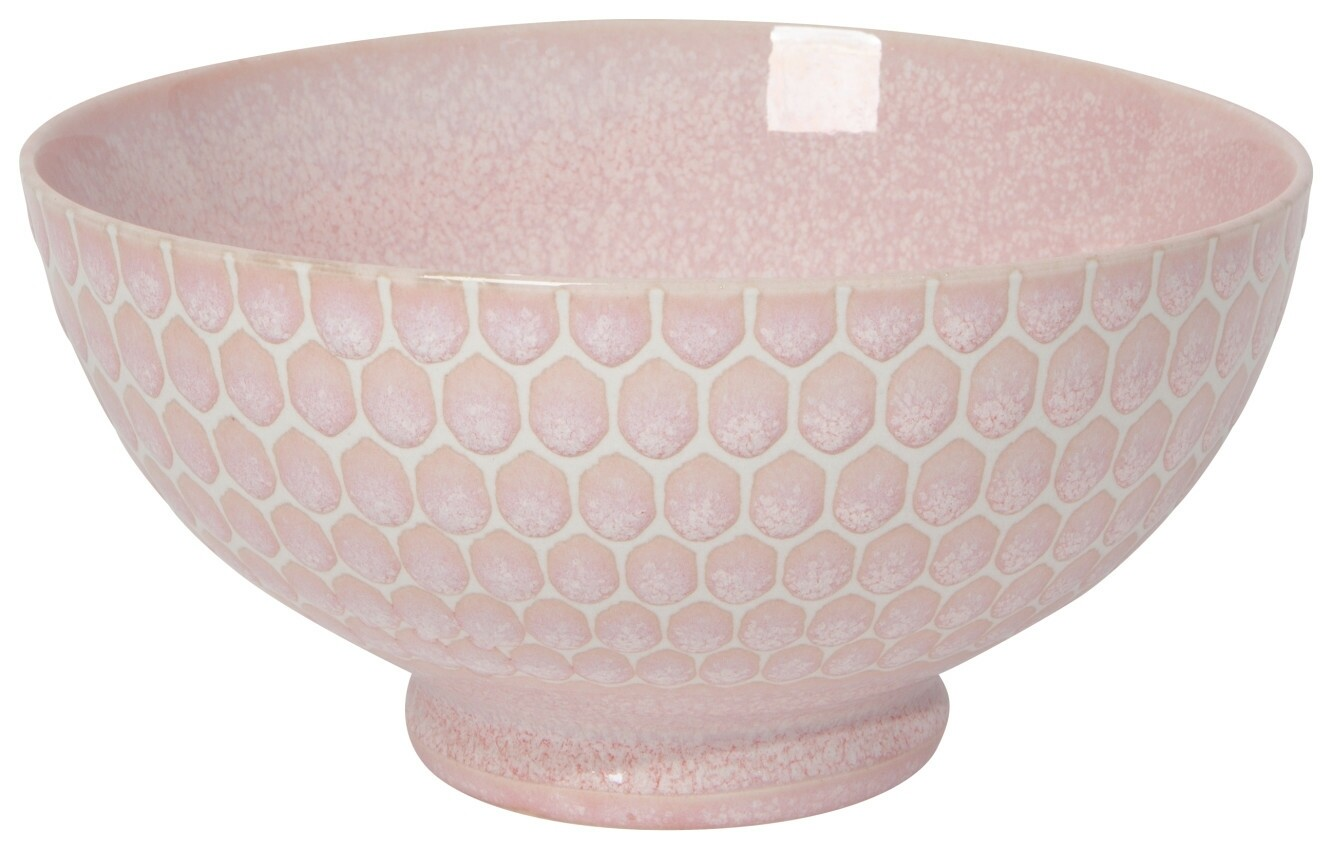 Now Designs Honeycomb 6in Cereal Bowl   Pink