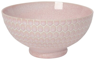 Now Designs Honeycomb 6in Cereal Bowl | Pink