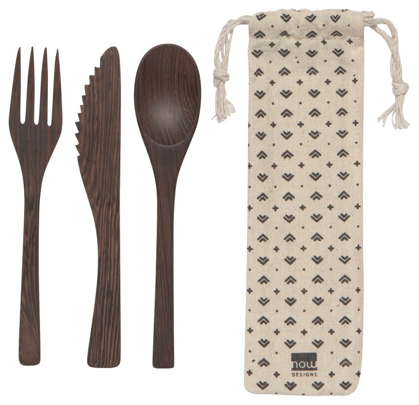 Now Designs On The Go Cutlery Set | Ebony