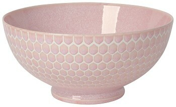 Now Designs Honeycomb 8in Serving Bowl | Pink