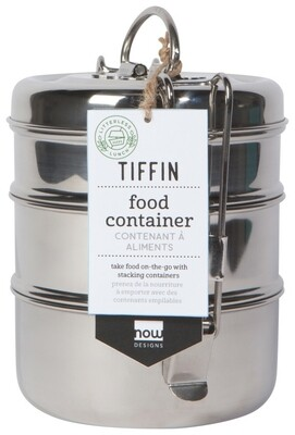 Now Designs Tiffin Food Container | Steel