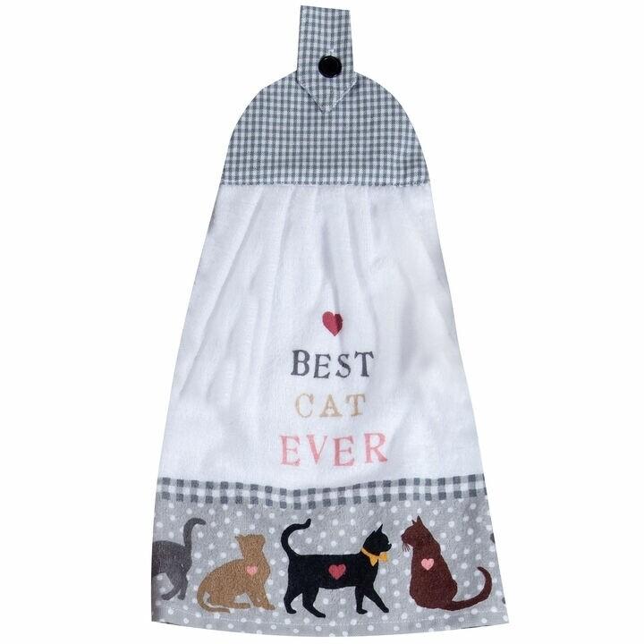 Kay Dee Designs Tie Towel | Best Cat Ever