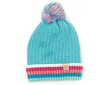 Britt's Knits Kid's Play All Day Plush-Lined Pom Hat | Light Blue