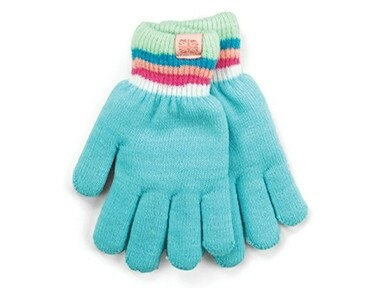 Britt's Knits Kid's Play All Day Fuzzy Lined Gloves | Light Blue