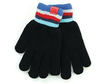 Britt's Knits Kid's Play All Day Fuzzy Lined Gloves   Black