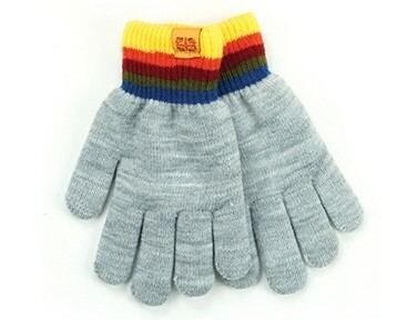 Britt's Knits Kid's Play All Day Fuzzy Lined Gloves | Grey