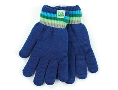 Britt's Knits Kid's Play All Day Fuzzy Lined Gloves   Dark Blue