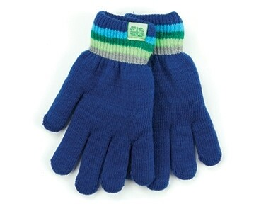 Britt's Knits Kid's Play All Day Fuzzy Lined Gloves | Dark Blue