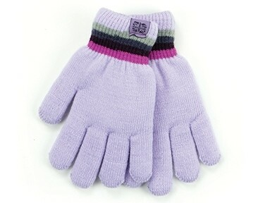 Britt's Knits Kid's Play All Day Fuzzy Lined Gloves | Purple