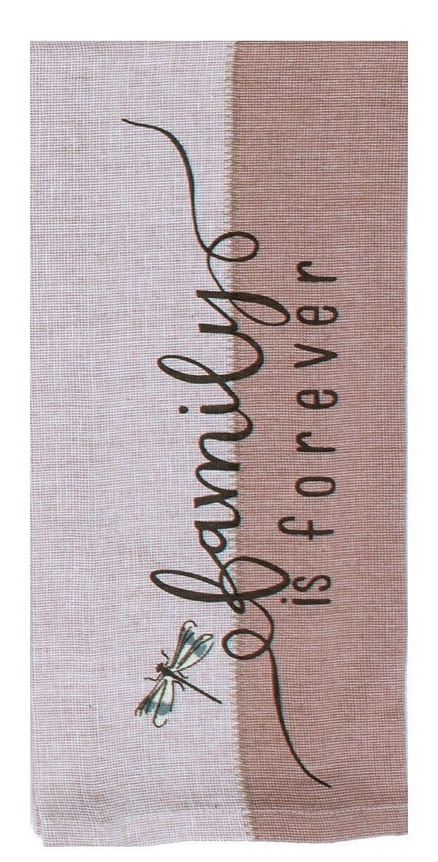 Kay Dee Designs Tea Towel   Blush Family is Forever