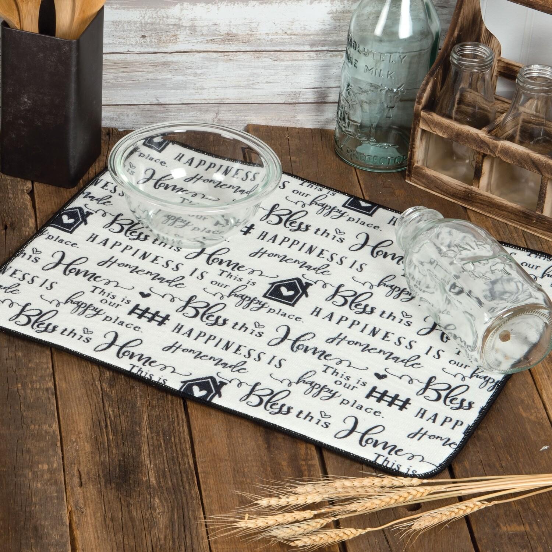 Kay Dee Designs Microfiber Countertop Drying Mat | Farmhouse