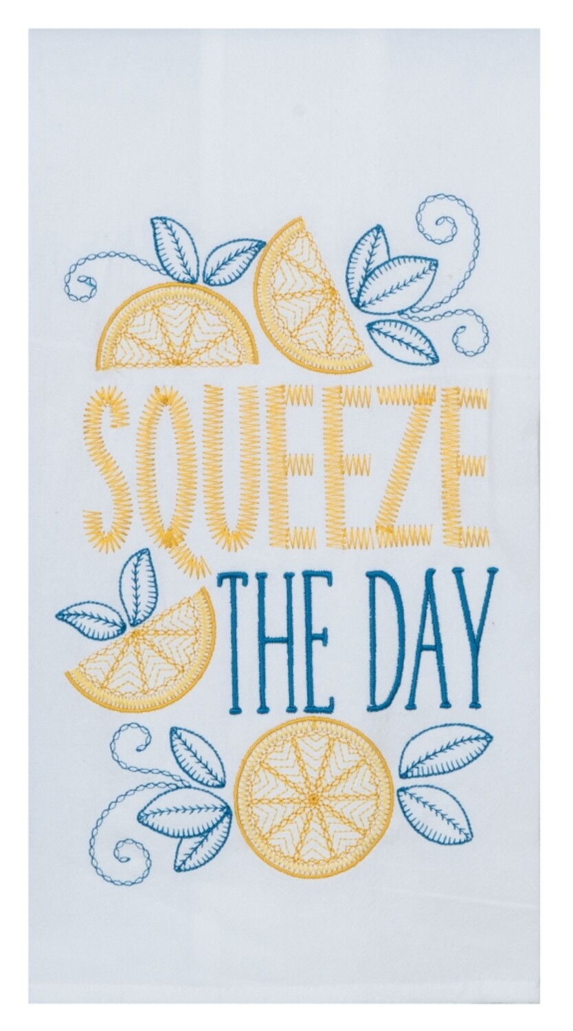 Kay Dee Designs Embroidered Flour Sack Towel | Squeeze the Day