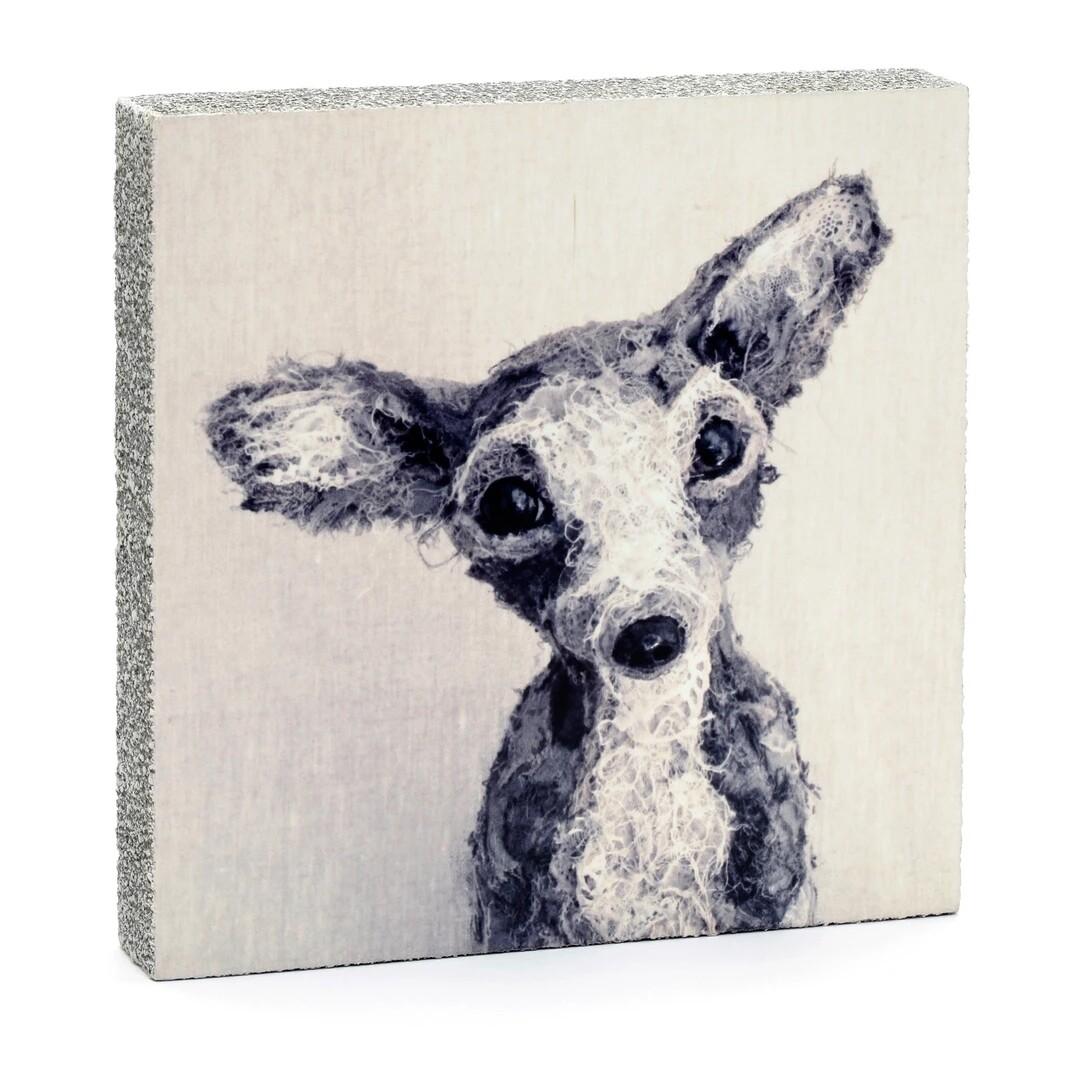 Cedar Mountain Little Gem Art Block - Archie the Dog