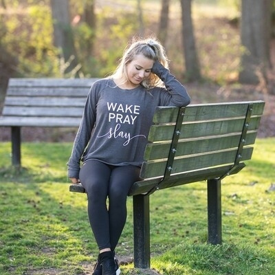 Mary Square | Sweatshirt - Wake Pray Slay