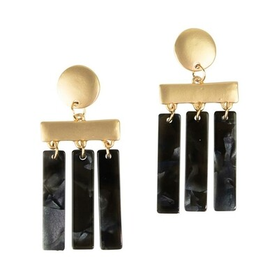 Michelle McDowell Chester Earrings | Charcoal