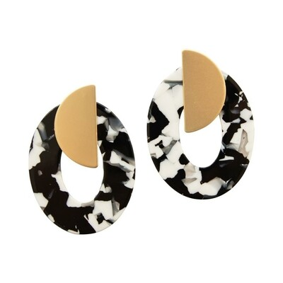 Michelle McDowell Emporia Earrings | Black Tortoise