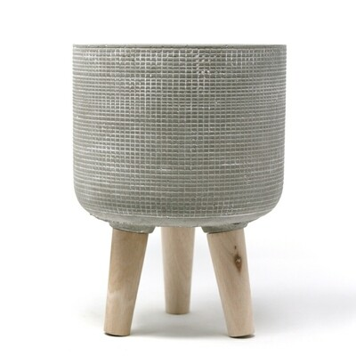 Natural Living | Trini Large Standing Planter - Grey