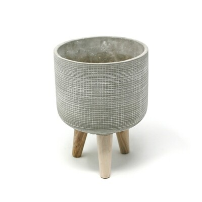 Natural Living | Trini Small Standing Planter - Grey