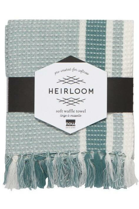 Now Designs Heirloom Soft Waffle Dishtowel | Lagoon