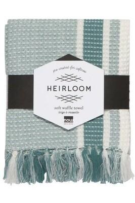 Now Designs Heirloom Soft Waffle Dishtowel   Lagoon