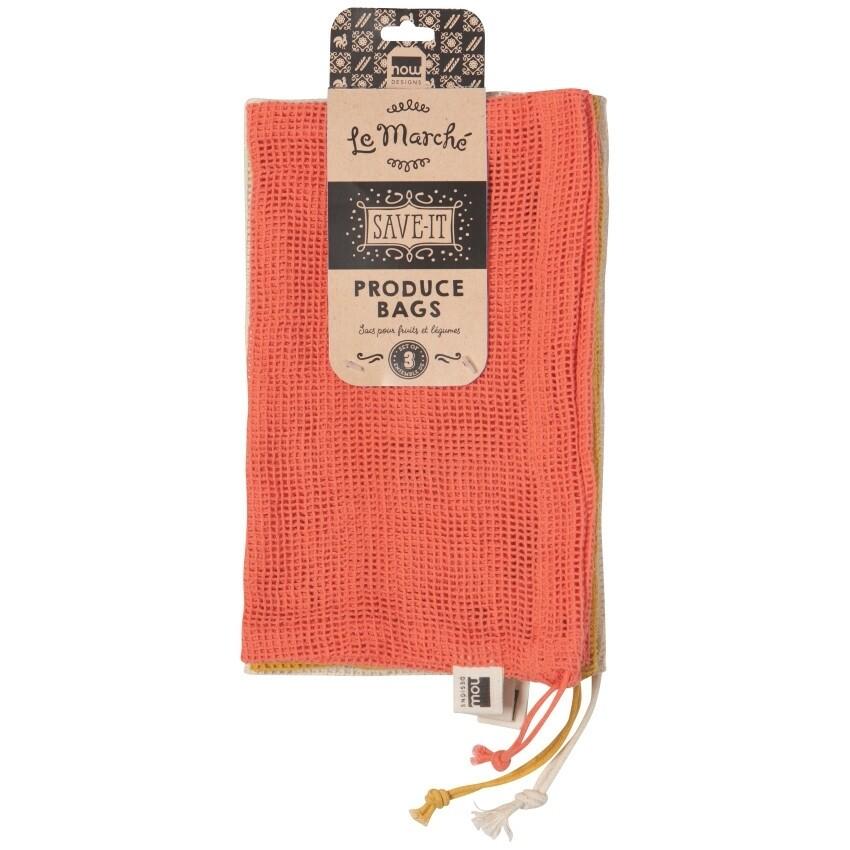 Now Designs Le Marche Coral Produce Bags Set of 3