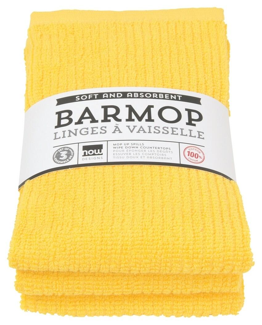 Now Designs Barmop Set of 3 | Lemon