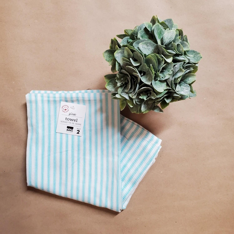 Now Designs Glass Towel Set of 2   Bali