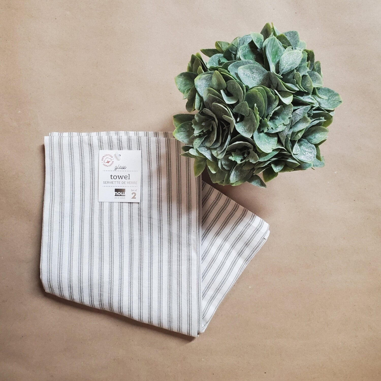 Now Designs Glass Towel Set of 2 | London Grey