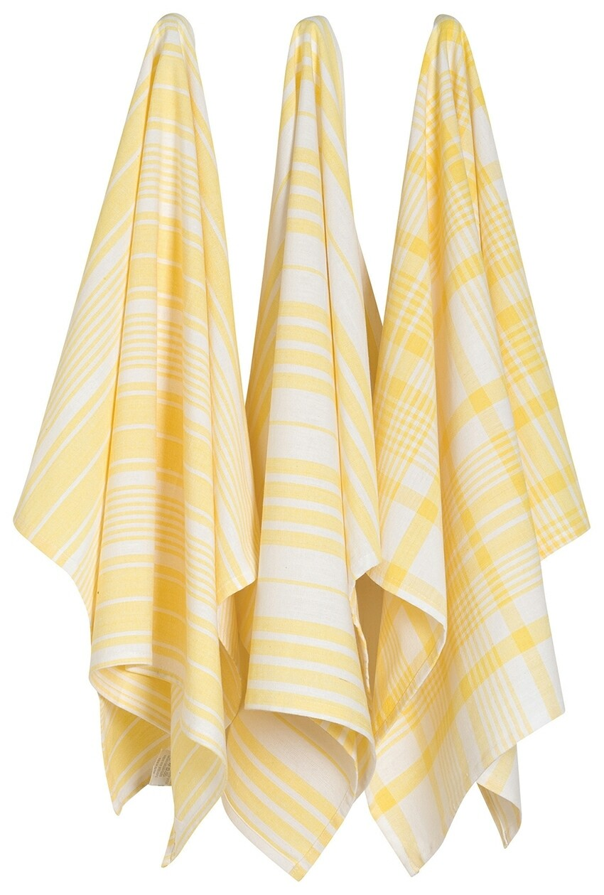 Now Designs Jumbo Dishtowel Set of 3 - Lemon