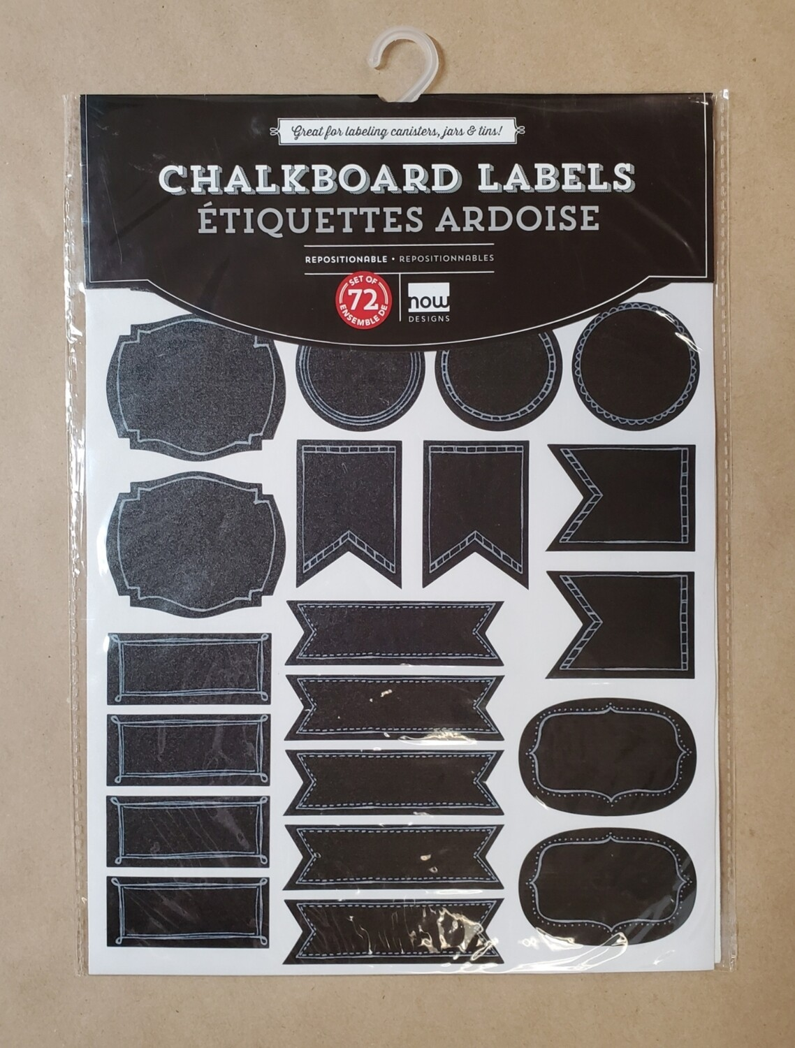 Now Designs Chalkboard Labels | Small - Set of 72