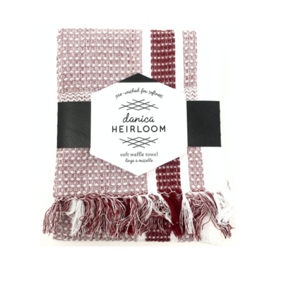 Now Designs Heirloom Soft Waffle Dishtowel   Wine